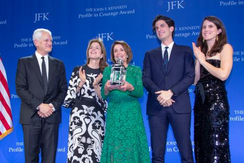 The Kennedy family presents the 2019 Profile in Courage Award to Speaker Nancy Pelosi