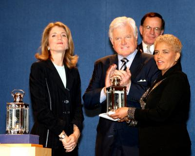 2005 PICA Winner Shirley Franklin with Caroline Kennedy and Edward M. Kennedy