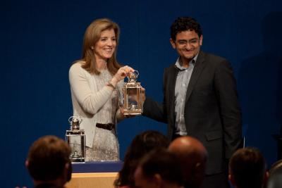 2011 PICA Winner Wael Ghonim and Caroline Kennedy