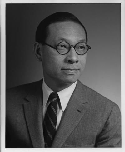 Portrait photograph of IM Pei