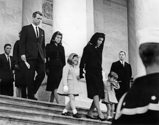 Kennedy Family members leave the Capitol Building, 24 November 1963.