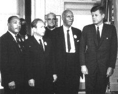 JFK with leaders of the Civil Rights Movement