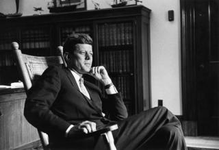 John F. Kennedy in his Senate Office, 1959.
