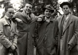"""970b1e22343 ... JFK poses with members of the """"Muckers Club"""" at Choate"""