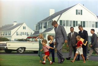 The President at home in Hyannisport