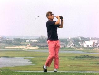 President Kennedy on the links of Hyannisport Club, August 1963