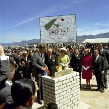 ST-C290-1-61. Alliance for Progress Ceremony at Techo Housing Project, Bogotá, Colombia